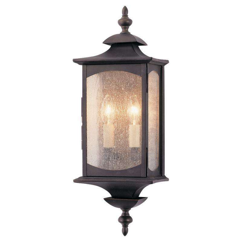 2-Light Market Square Outdoor Fixture Oil Rubbed Bronze