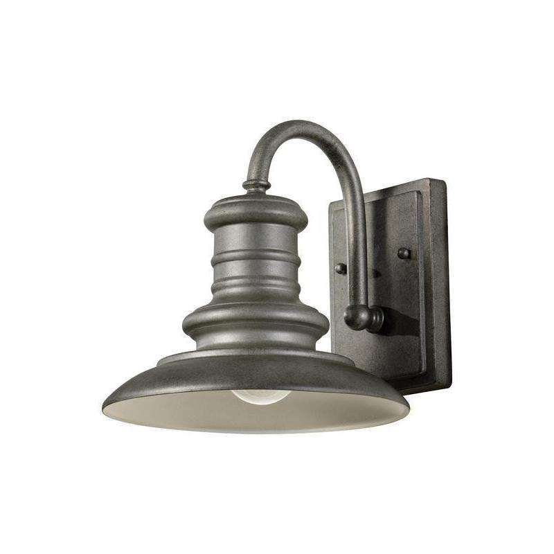 1-Light Redding Station Outdoor Fixture Tarnished Silver