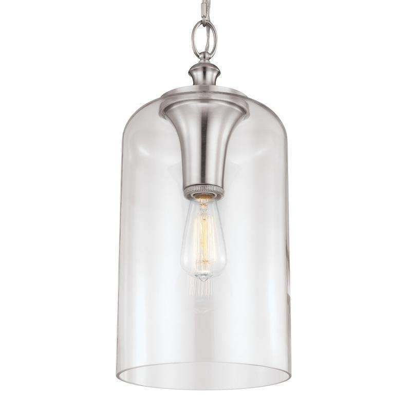 1 - Light Hounslow Pendant Brushed Steel