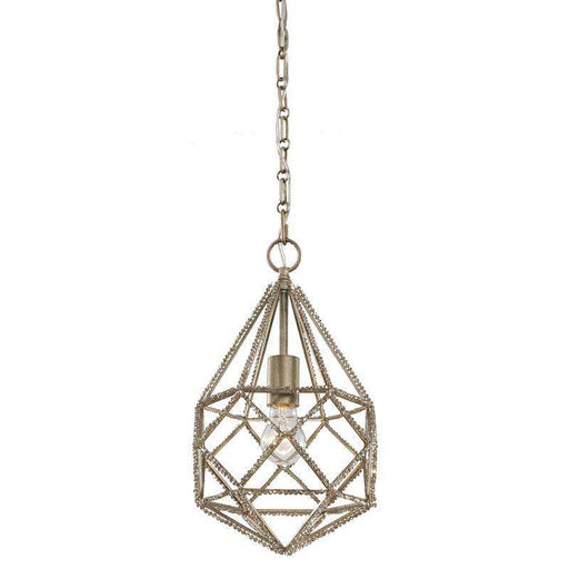 1 - Light Marquise Mini Pendant Burnished Silver
