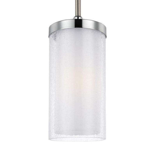 1 - Light Mini-Pendant Satin Nickel / Chrome