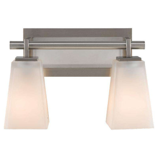 2 - Light Clayton Wall Bath Fixture Brushed Steel