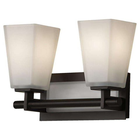 2 - Light Clayton Wall Bath Fixture Oil Rubbed Bronze