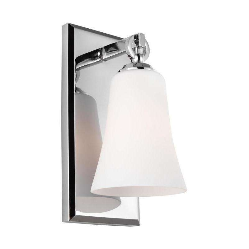 1 - Light Wall Sconce Wall Bath Fixture Chrome