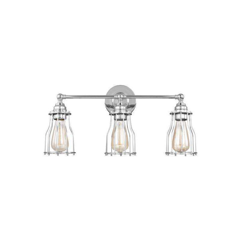 3 - Light Vanity Wall Bath Fixture Chrome