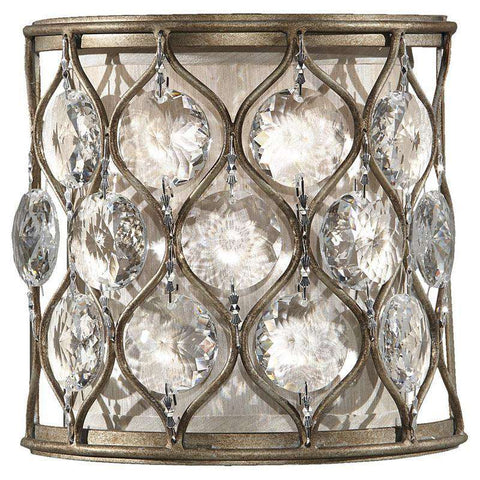 1 - Light Lucia Wall Bath Fixture Burnished Silver