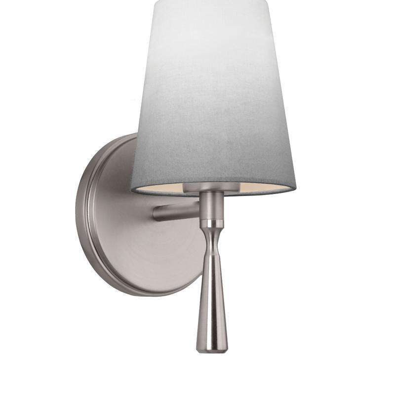 1 - Light Sconce Wall Bath Fixture Satin Nickel