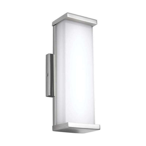 1 - Light Indoor / Outdoor Wall Sconce Outdoor Fixture Polished Stainless Steel