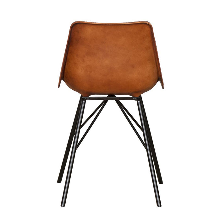 Detroit Dining Chair in Baseball Stitched Leather
