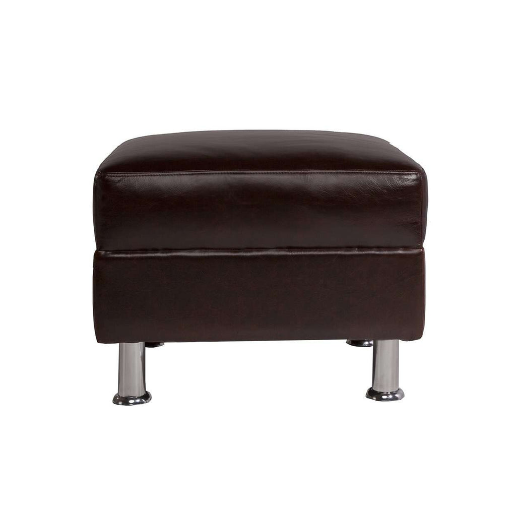 Modern Rimini Italian Leather Ottoman *free local shipping only*