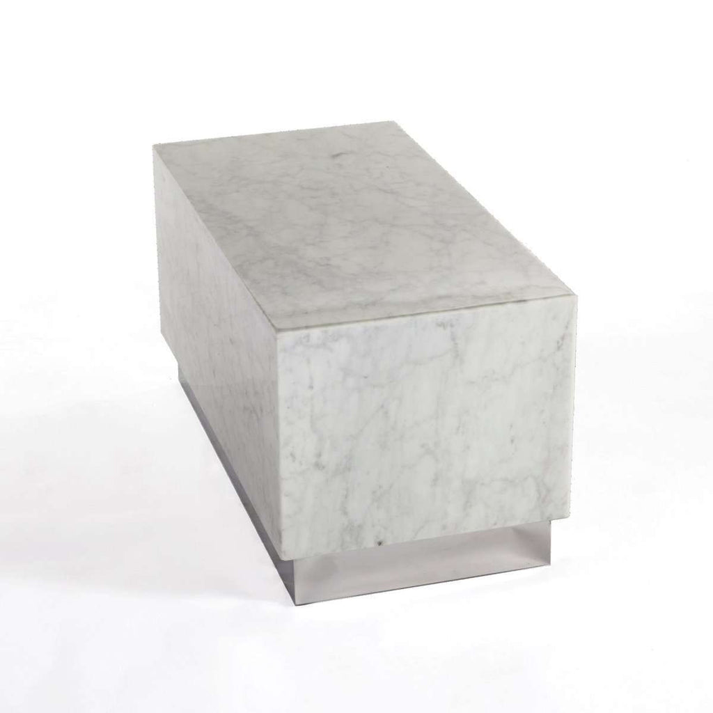 Kubik Carrara Marble Coffee Table