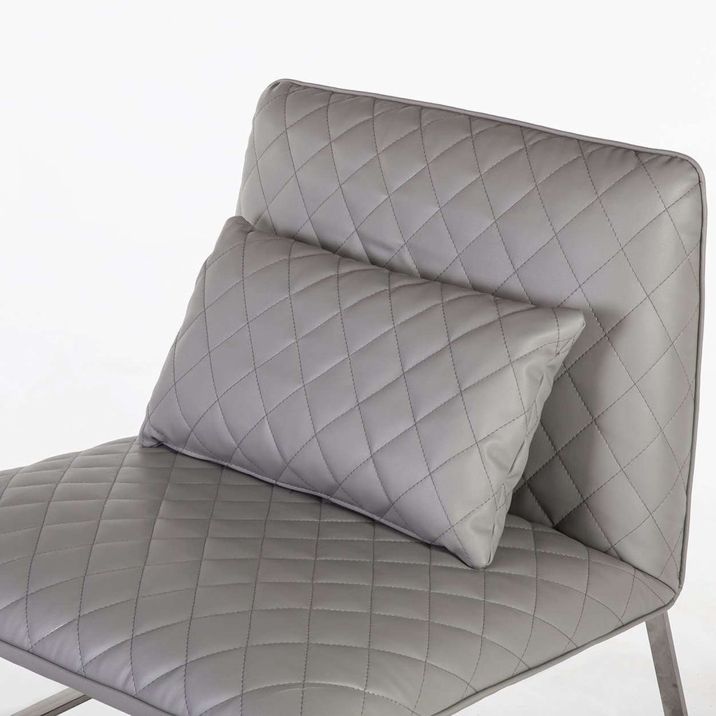 Custom Modern Lounge Chair and Ottoman - Grey