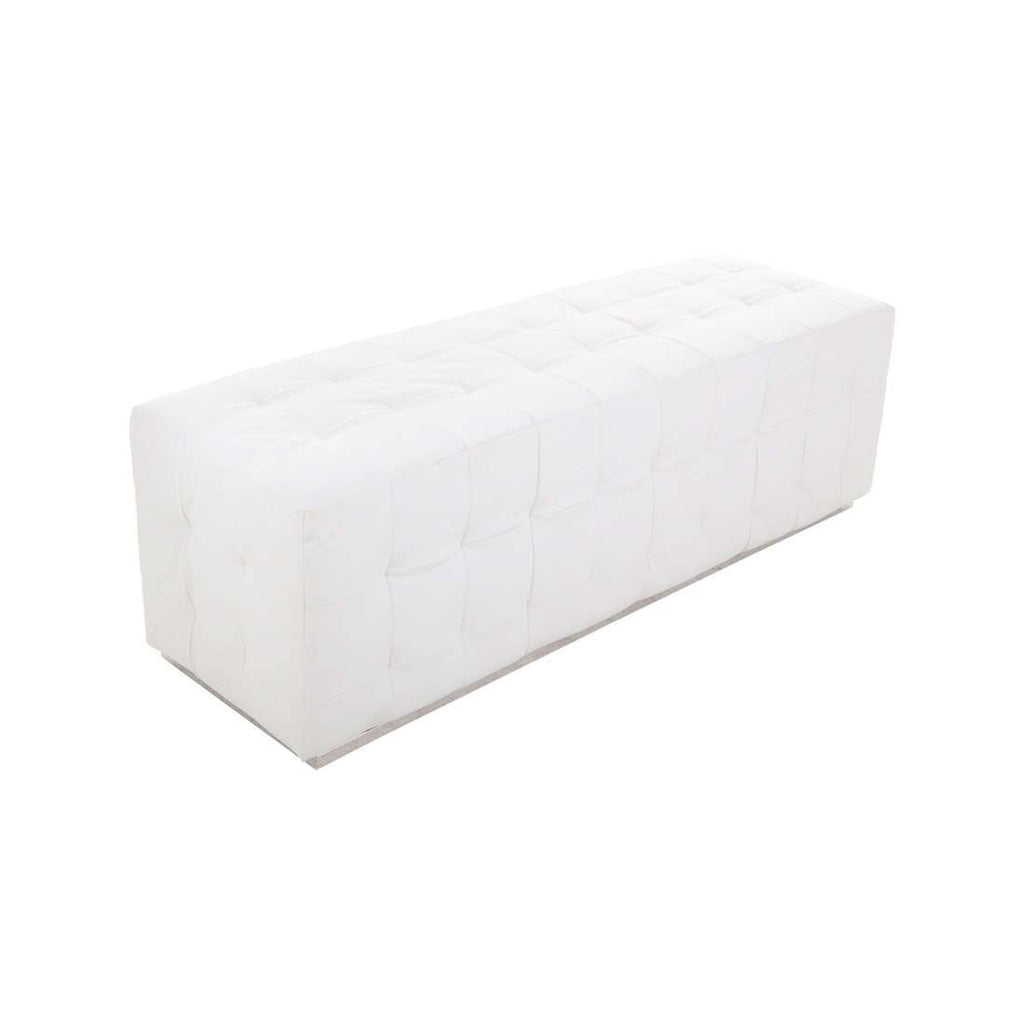 Modern Daka Bench - White