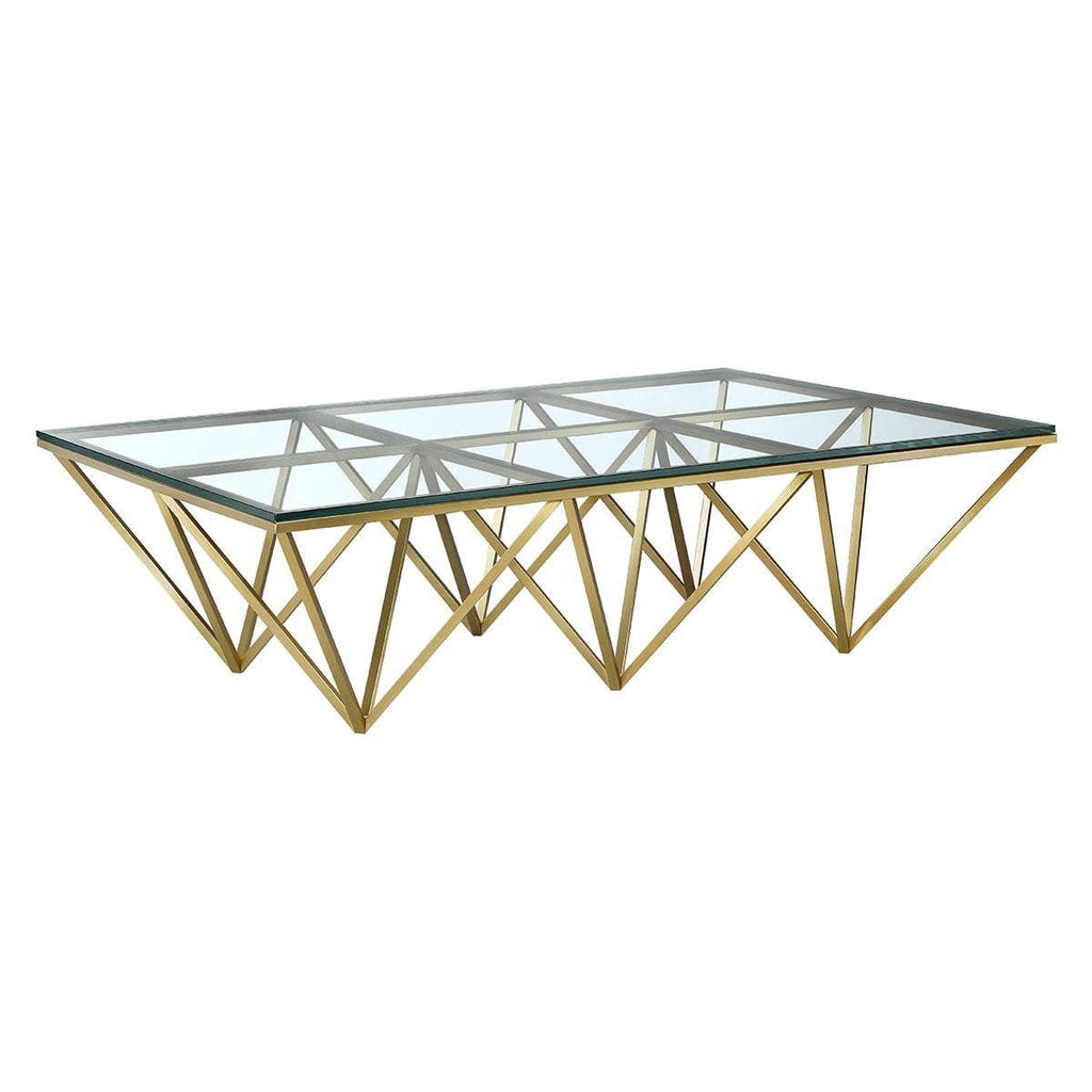 Aldana Coffee Table - Rectangle - Gold [New Product]