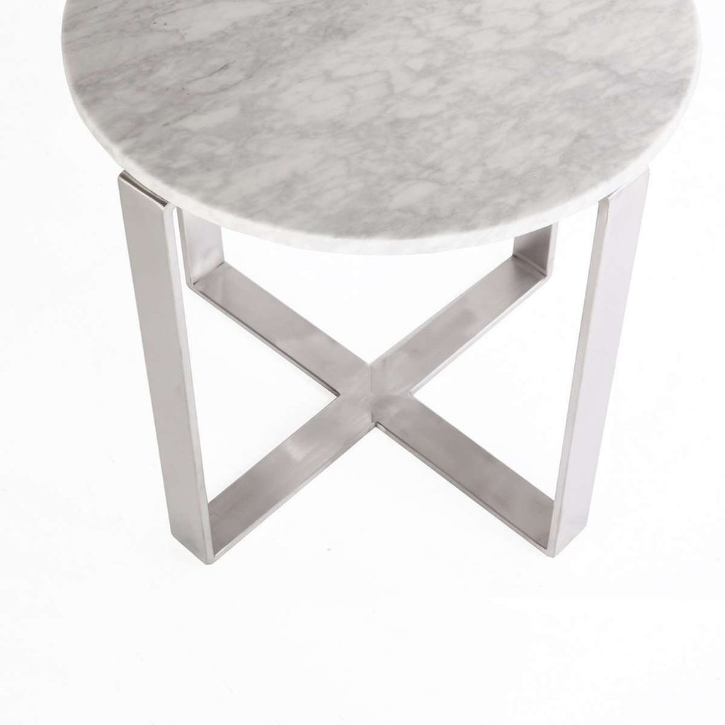 Carrara Marble Krre Side Table