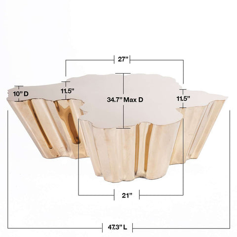 Fideer Coffee Table - Rose Gold