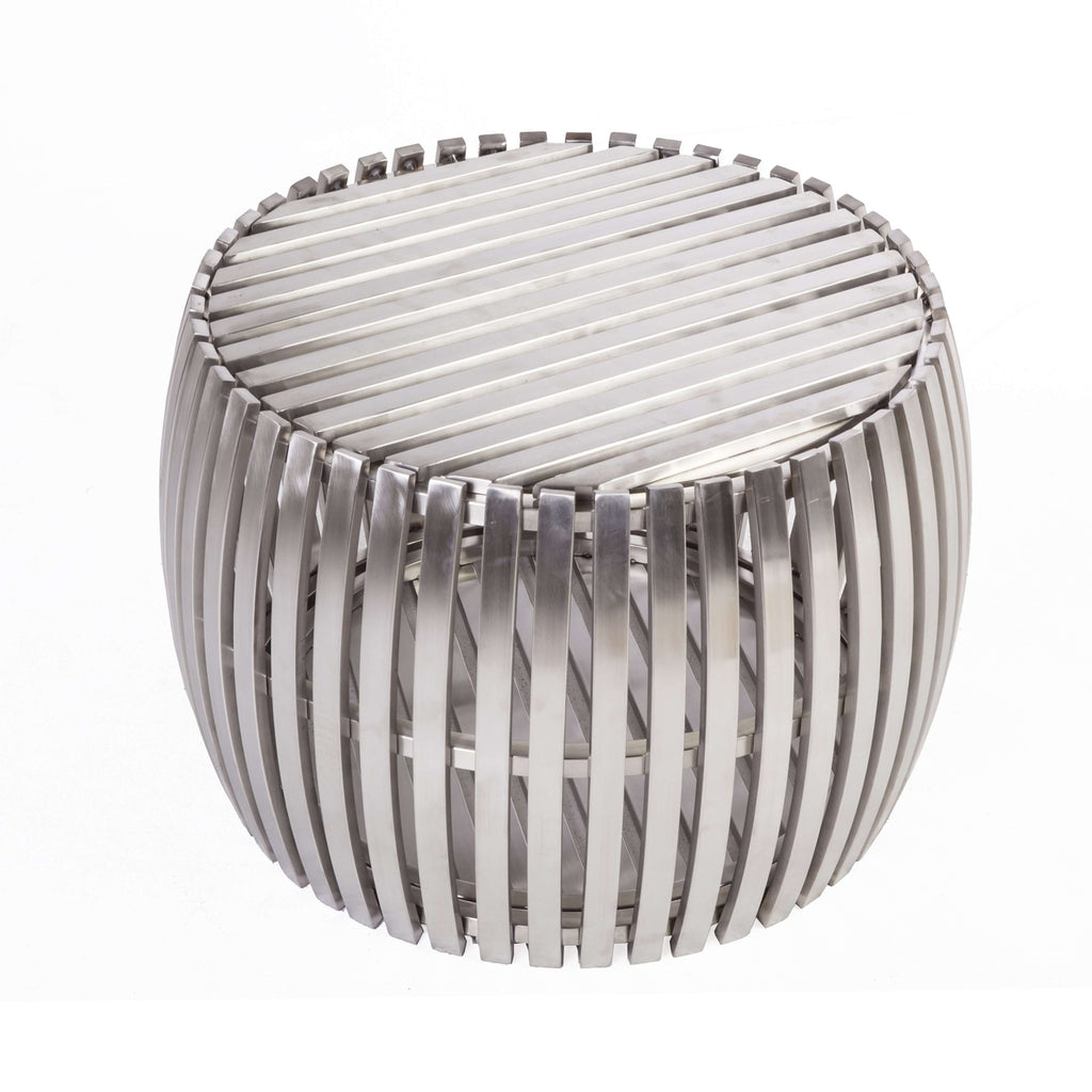 Goren Round Coffee Table - Brushed Stainless steel  - [new product]
