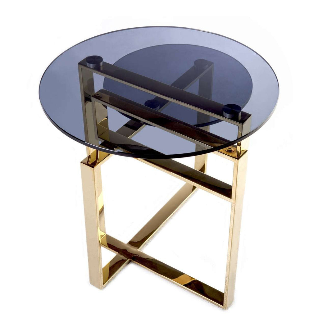 Bertt Side Table - Gold  free local shipping only****