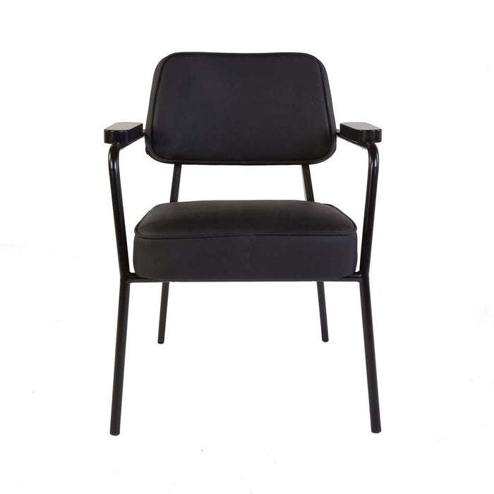 Mid Century Fauteuil Direction Arm Chair - Black