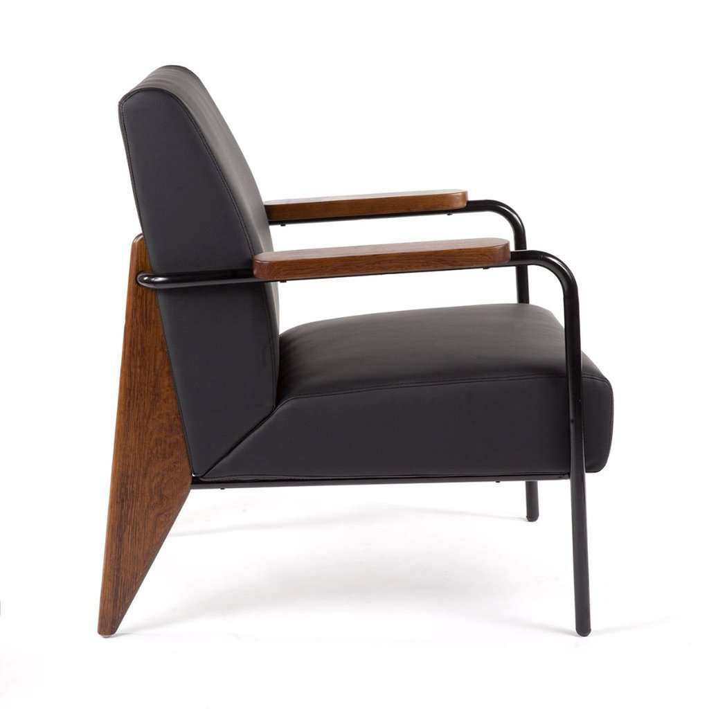 Mid Century Modern Reproduction Fauteuil De Salon Black Inspired By