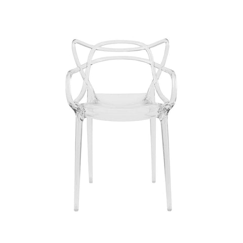 4 x Masters Ghost Chair - Transparent SET OF 4 -[50gift] *Free Local Shipping Only*