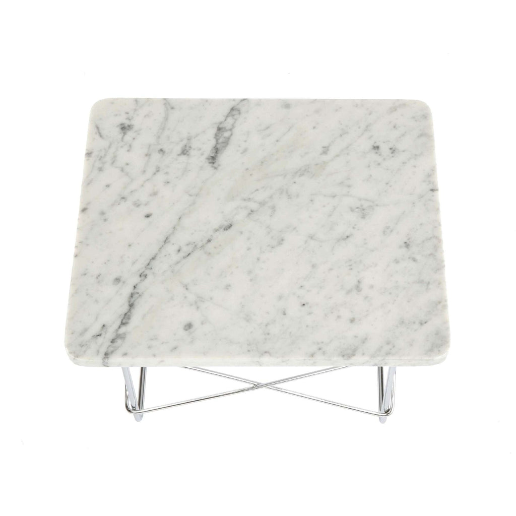 Wire Base Low Table - White Marble [staff pick]