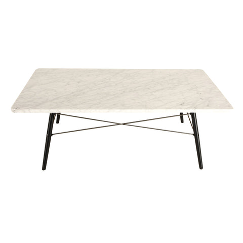 Palisades Eiffel Coffee Table with Marble Top