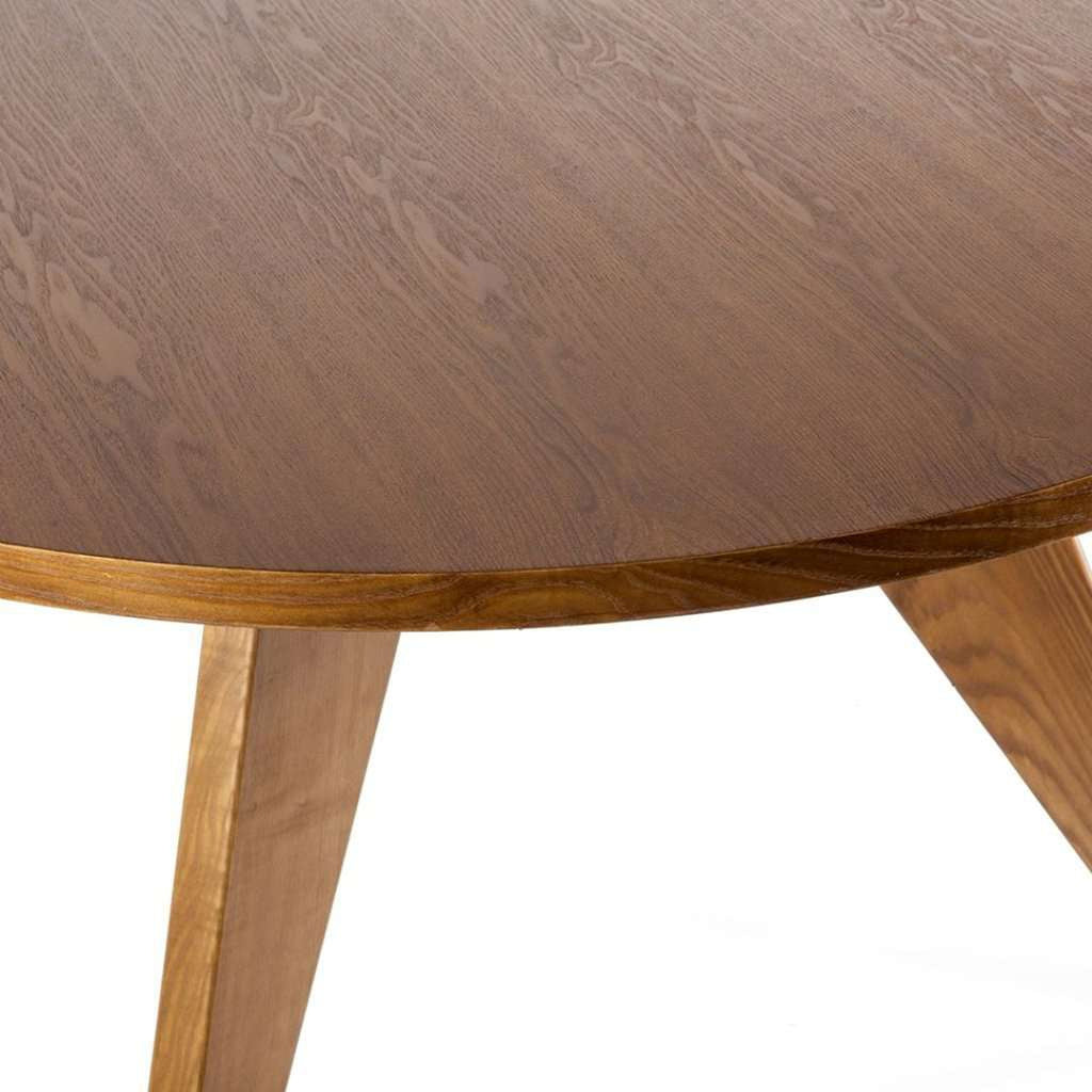 Charmant Gueridon Dining Table   Round Light Walnut Table **PICK UP ONLY**