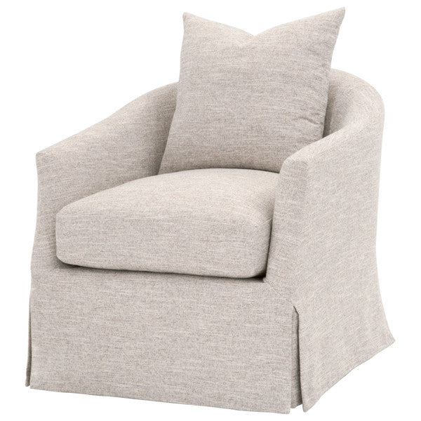 Faye Slipcover Swivel Club Chair