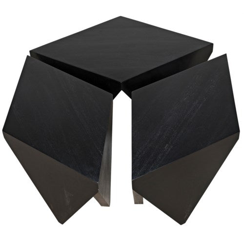 Cassandra Puzzle Coffee Table, Hand Rubbed Black