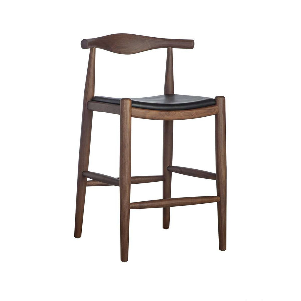 Elbow Counter Stool w/ Italian Leather Seat [New Product]
