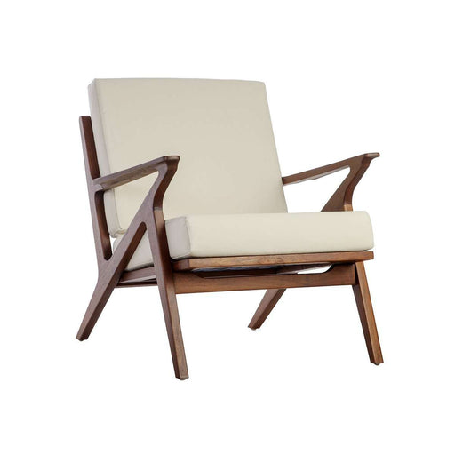 Mid Century Z Lounge Chair - Beige