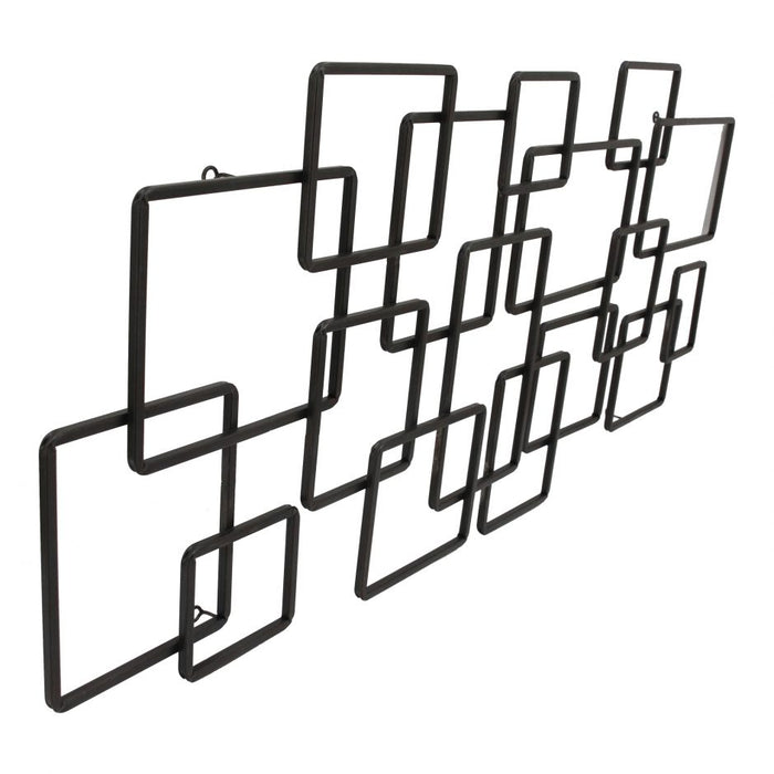 STEEL SQUARES WALL DECOR