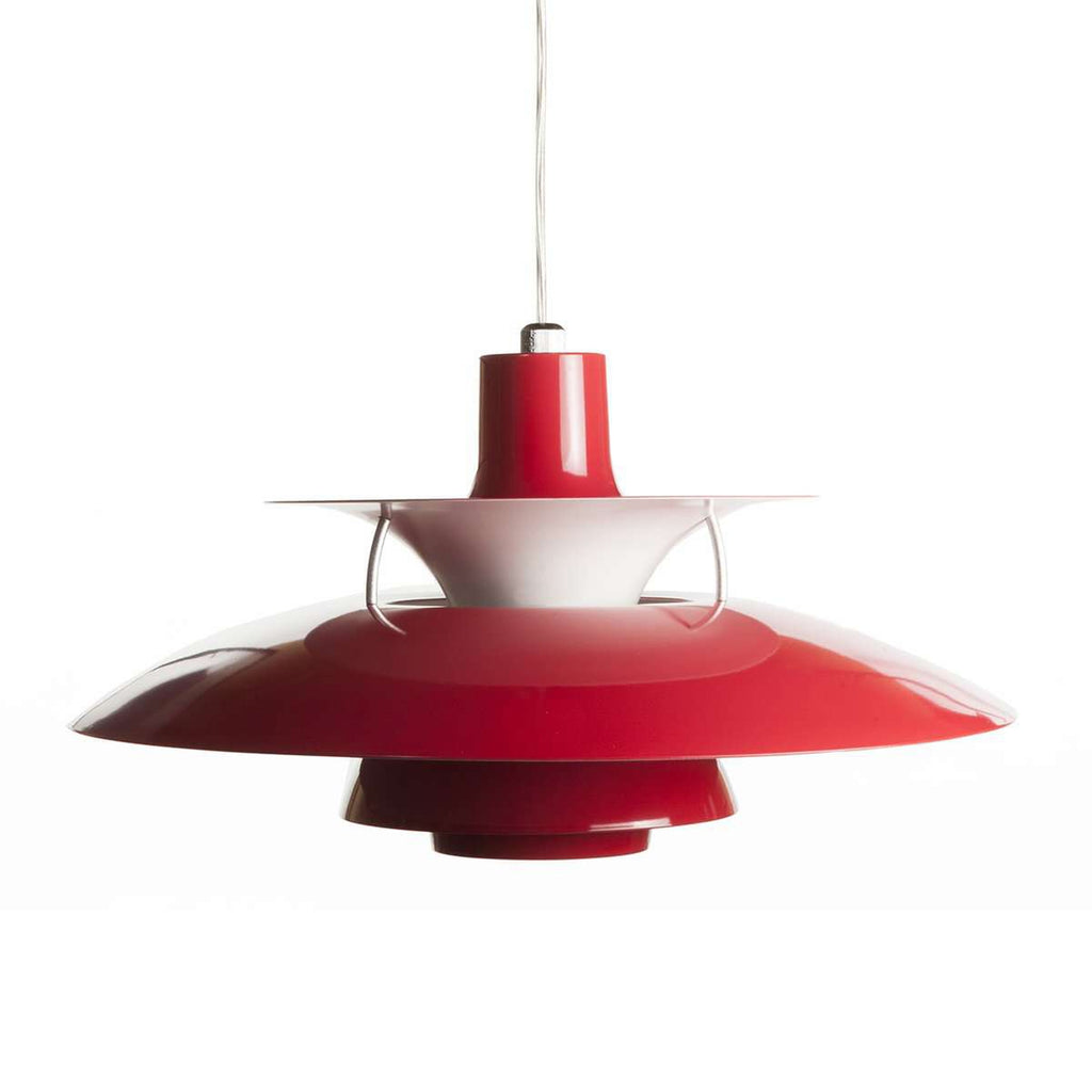 Mid Century Henningsen Pendant Lamp -  Red [staff pick]