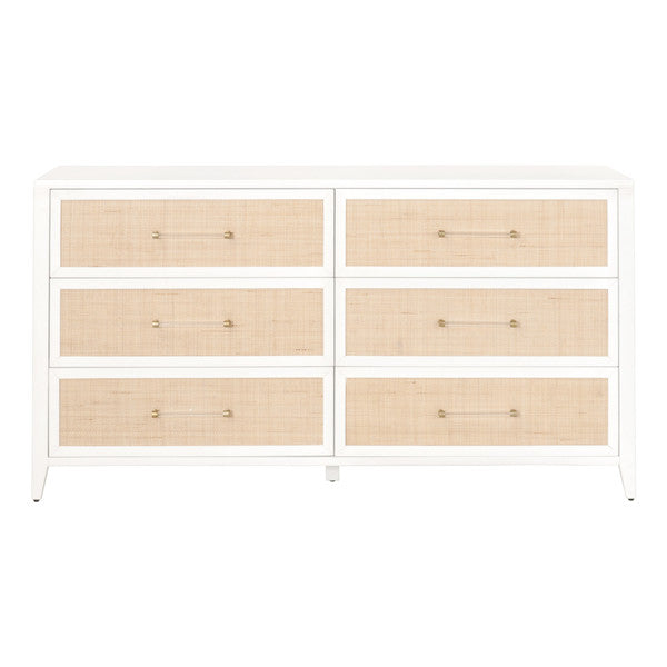Holland 6-drawer double dresser