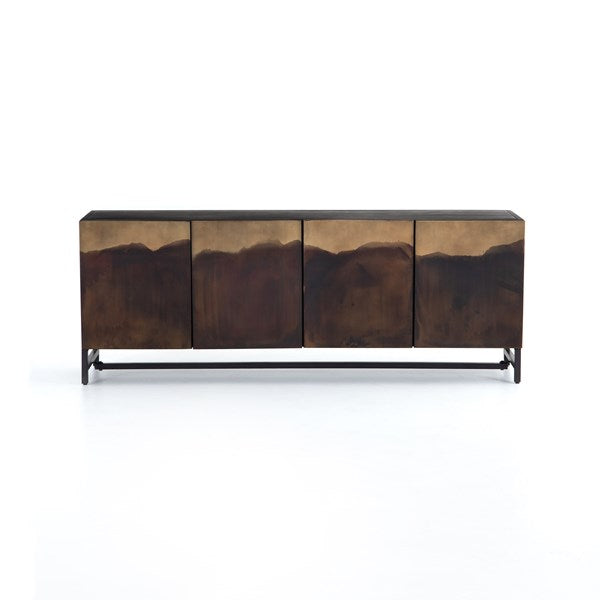 Stormy Media Console - Aged Brown