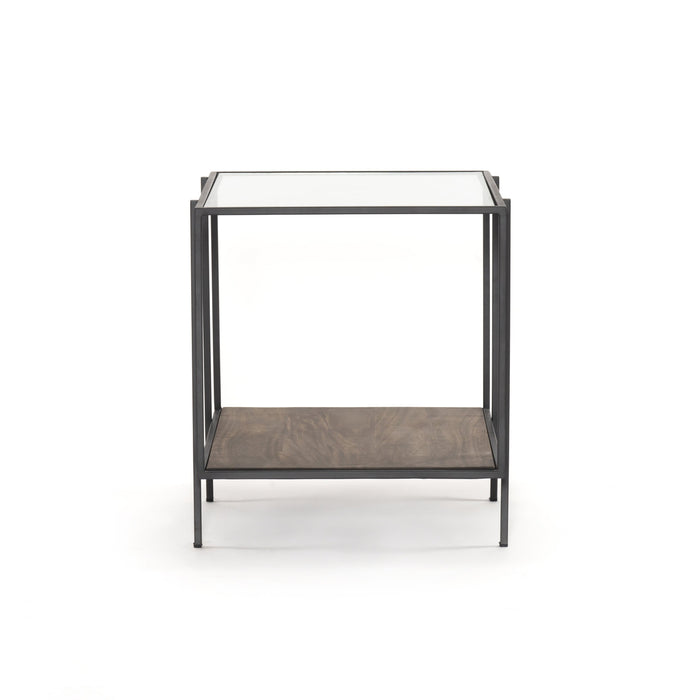 Byron End Table-Aged Brown
