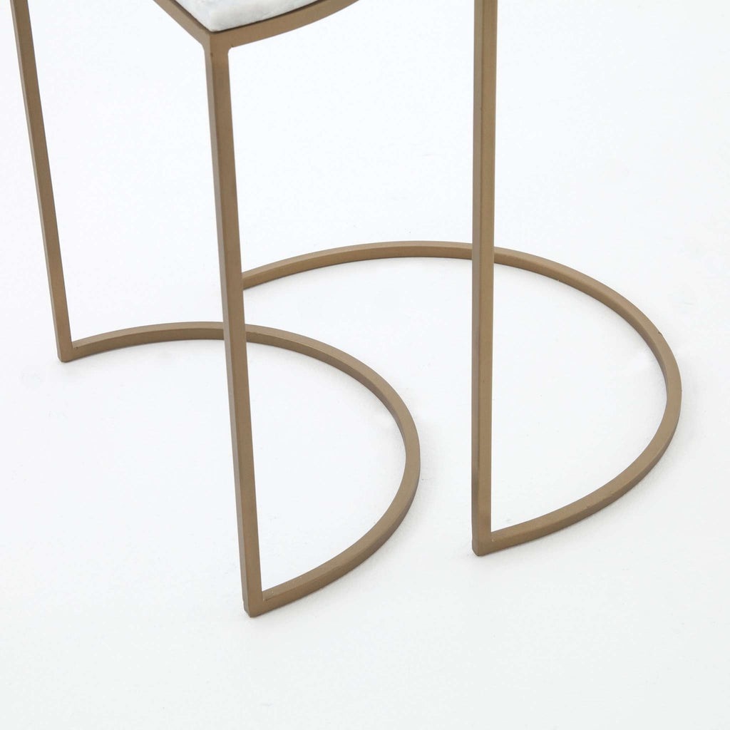 Ane Nesting Tables - Matte Brass