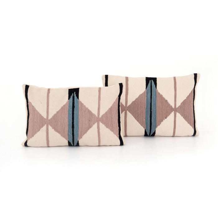 Blush Patterned Pillow - Set of 2