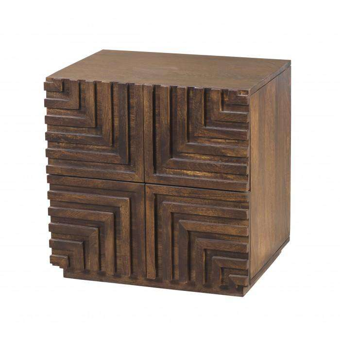 Maze Wood Night Stand