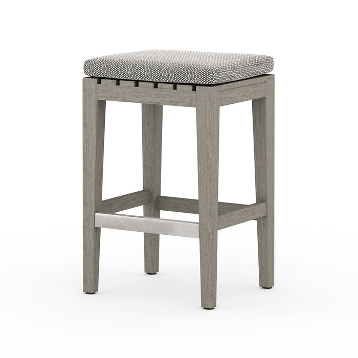 Dale Outdoor Counter Stool-Grey/Faye Ash