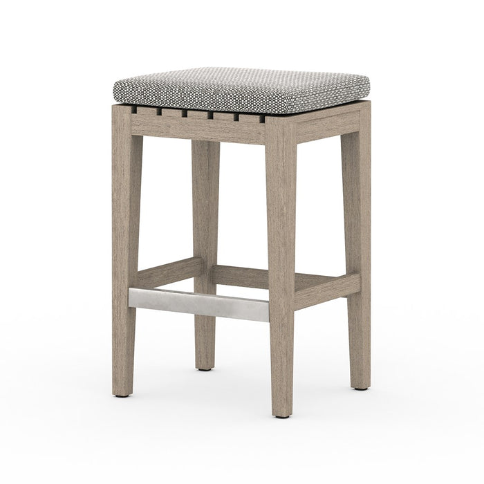 Dale Outdoor Counter Stool-Brown/Ash