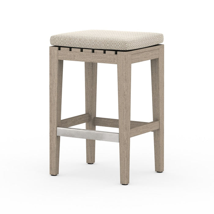 Dale Outdoor Counter Stool-Brown/Sand