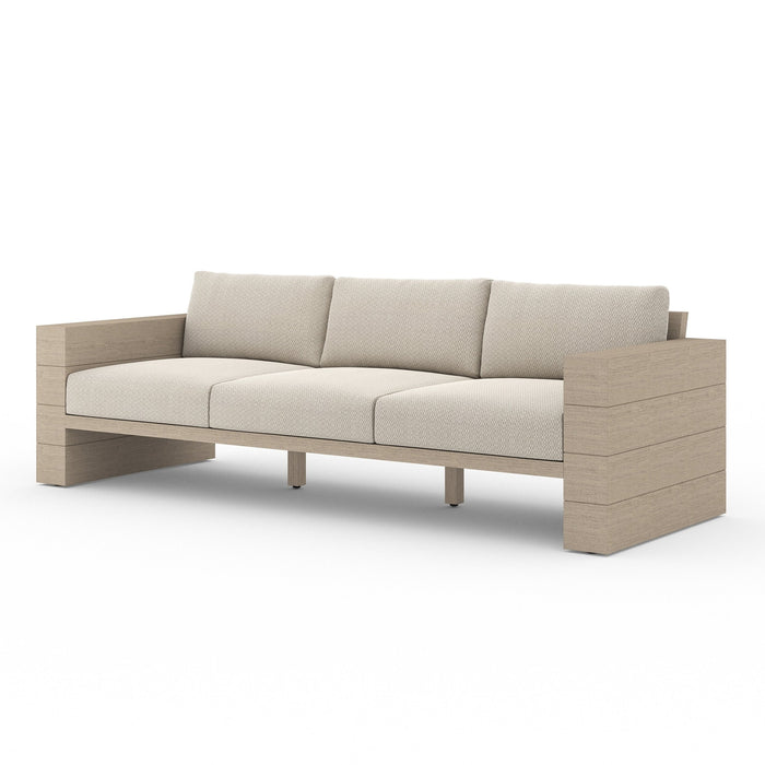 "Leroy Outdoor Sofa-96"" Washed Brown"
