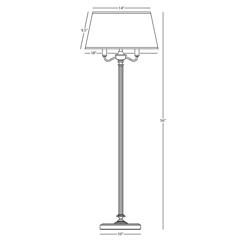 Abbey Bronze Floor Lamp - 5 Way Floor Lamp