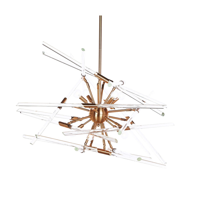 Solitude Brass Chandelier