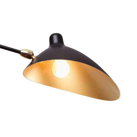 Three-Arm MCL-R3 Ceiling Lamp - Black and Gold