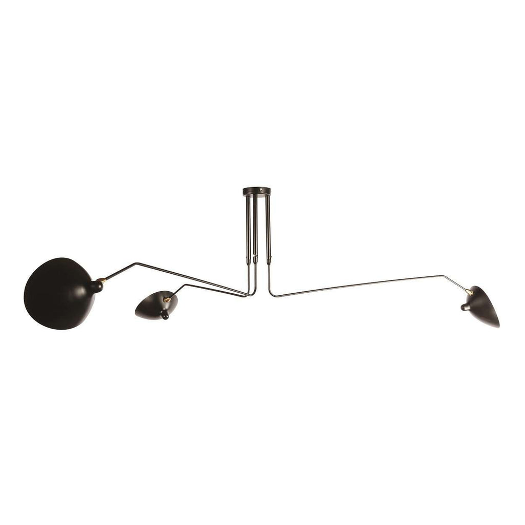 Mid Century Three-Arm MCL-R3 Ceiling Lamp