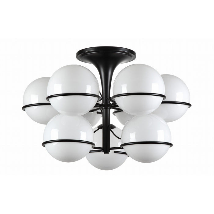 Sarfatti Globe Two Tiered Flush Mount Ceiling Lamp