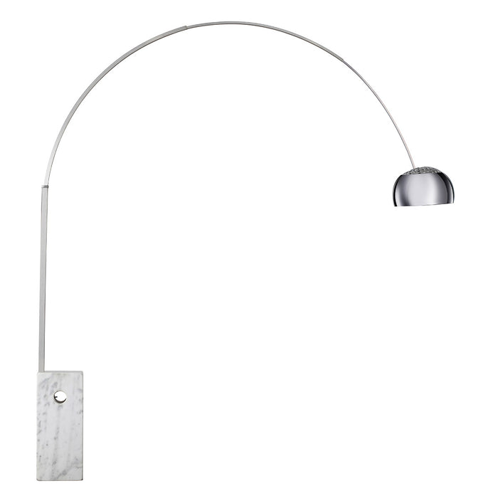 Arco Floor Lamp with Italian Carrera Marble Base